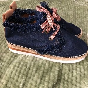 See By Chloe Espadrille denim shoes size 37 (7)